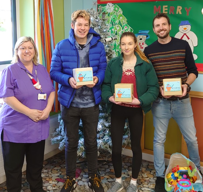 Students deliver gifts to Derby Children's Hospital