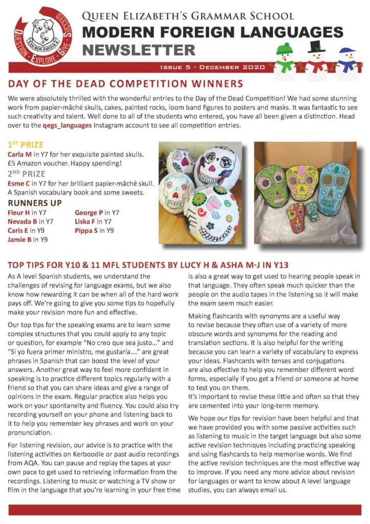 MFL Newsletter – Issue Five