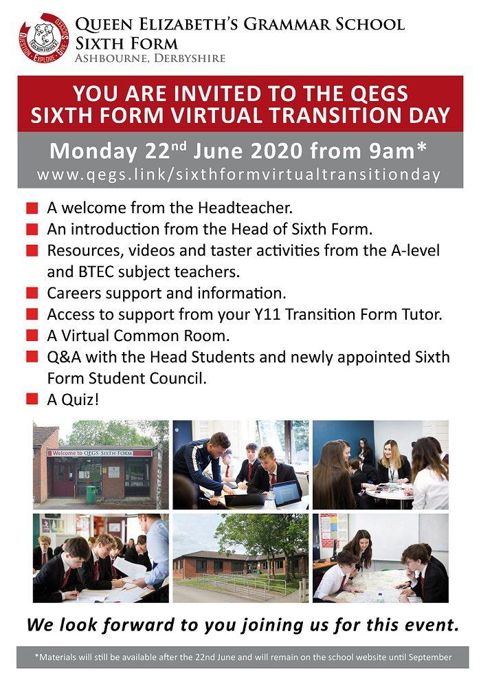 SIXTH FORM VIRTUAL TRANSITION DAY 2020